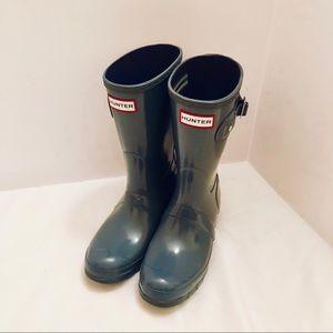 Glossy Grey  Short Hunter boots size 6